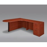 Fairplex Executive Corner Peninsula / Bullet L Desk