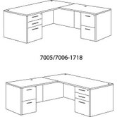 "Fairplex 60"" Right/Left ""L"" Executive Desk with Grommet Holes"