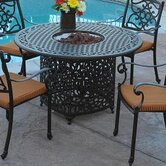 Kingston Dining Table with Firepit