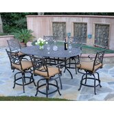 Kingston 7 Piece Counter Height Dining Set