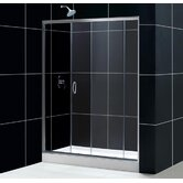 Infinity Sliding Door Left Drain Shower Enclosure with Amazon Base