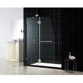 Aqua Lux Pivot Shower Door and Amazon Base Kit with Right Drain