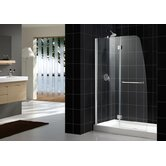 Aqua Hinged Shower Door and Amazon Base Kit with Right Drain