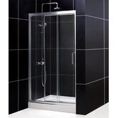 Illusion Sliding Door Shower Enclosure with Base