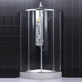 Sector Center Sliding Door Shower Enclosure