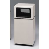 Fiberglass Series 25 Gallon Side Entry Square Receptacle