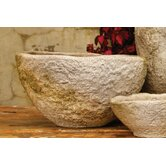 Rough Hewn Round Bowl Planter