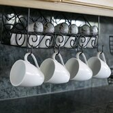 Under-the-Cabinet Three Compartment Coffee Wall Mounted Pod and Mug Storage