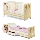 Bambino Legno Pinocchio Convertible Cot Bed in Vanilla and Chocolate