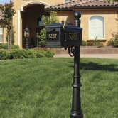 Lewiston Fluted Base and Ball Finial Post Mailbox