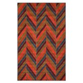 Outdoor/Patio Herringhone Stripe Rug