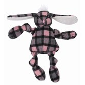 Knottie Plaid Bunny Plush Dog Toy