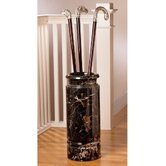 Solid Ebony Marble Cane and Umbrella Vessel