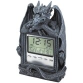 Dragon's Time LCD Alarm Clock in Grey Stone
