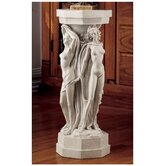 Maenads Sculpture Pedestal Plant Stand