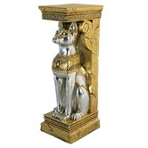 Egyptian Cat Goddess Bastet Pedestal Statue