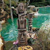 Tiki Gods Three Pleasures and Luau Statue