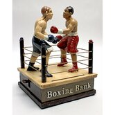 Battling Boxers Die Mechanical Coin Bank