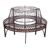 Premier Circular Wrap around Metal Garden Tree Bench