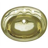 Decorative Drop-in Smooth Oval Basin