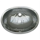 Decorative Undermount Oval &quot;Fleur De Lise&quot; Patter Basin