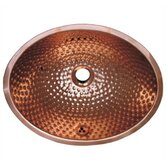 Decorative Undermount Oval Ball Pein Hammered Textured Basin