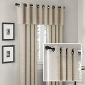 Anderson Silk Texture Grommet Panel and Valance Set in Cream
