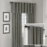 Anderson Silk Texture Grommet Panel and Valance Set in Slate Blue