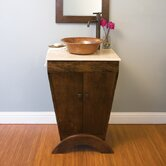 Yanama Cherry Wood Vanity Base with Crema Vanity Top