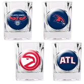 NBA Square Shot Glass 4 Piece Set (Individual Logos)