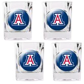NCAA Square Shot Glass 4 Piece Set