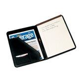 Man-Made Leather Deluxe Writing Padfolio in Black