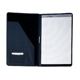 Nappa Cowhide Leather Legal Size Pad Holder in Black