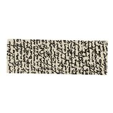 Black on White Manuscrit Runner