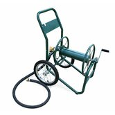 "Industrial 2 Wheel Hose Reel Cart with 1"" NPTF"