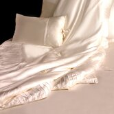 French Pleat Silk-Filled Throw