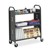 "3-Slant Shelf Cart, 27""x14""x43"", Anthracite"