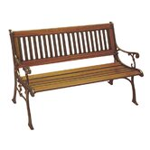 Carolina Wood and Cast Iron Park Bench