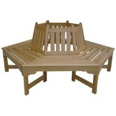 Sequoia Wood Tree Bench