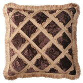 Bacara Pillow with Brush Fringe and Braid