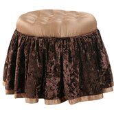 Bacara Vanity Stool with Self Cord and Self Buttons