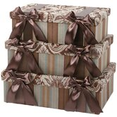 Vellore Rectangle Box with Bow and Ribbon, Lined (Set of 3)