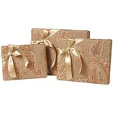 Alamosa Rectangle Gift Box with Ribbon ( Set of 3)