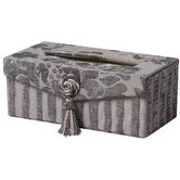 La Rose Romance Rectangular Tissue Box with Bouquet Trim and magnet button