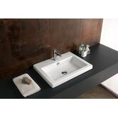 Cangas Ceramic Bathroom Sink with Overflow