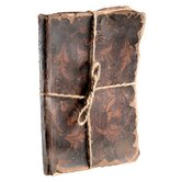 Leather Decorative Book with Endpapers Cover