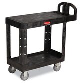 "Flat Shelf Utility Cart, 19-3/16"" Wide"