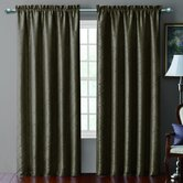 Sable Pintucked Taffeta Rod Pocket  Curtain Single Panel