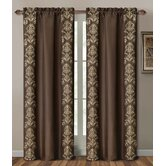 Garwood Damask Polyester Curtain Window Panel