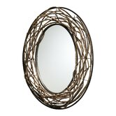 Rustico Twist Mirror in Birchwood and Bronze